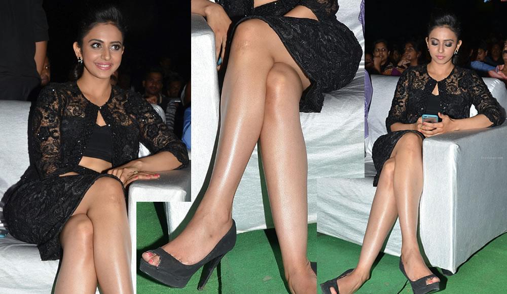 Rakul Preet Singh In Hot Close Up Legs Photos