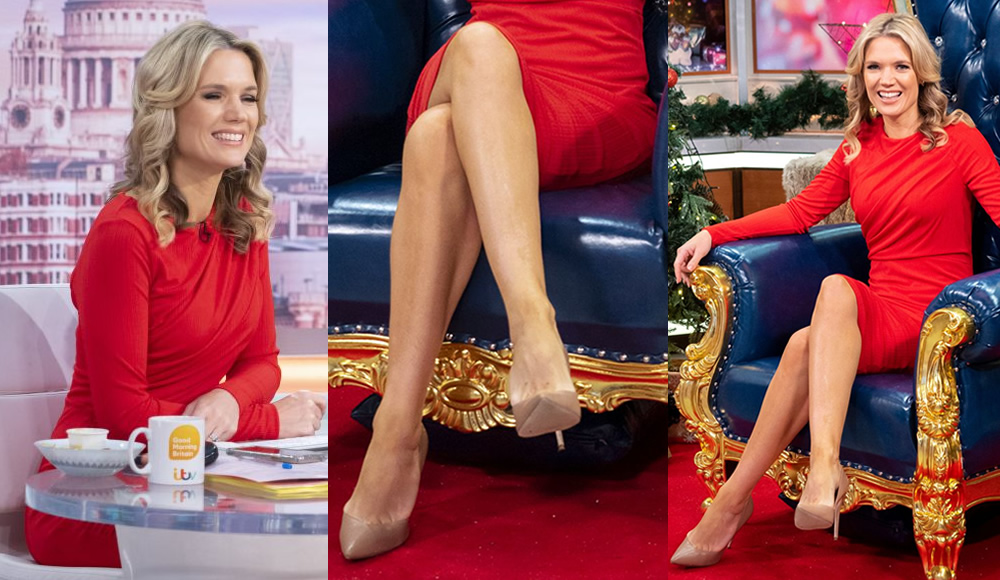 Charlotte Hawkins in Crossed Legs at Good Morning Britain ...