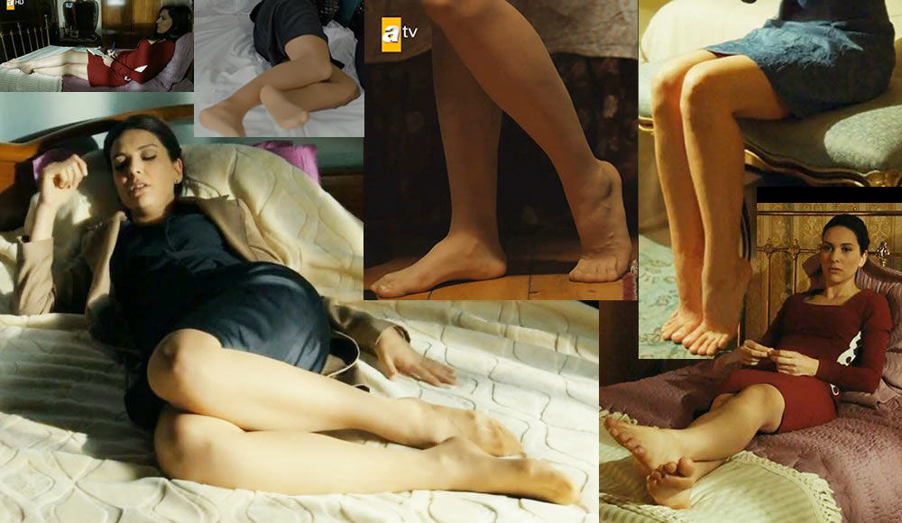 Bergüzar Korel in Legs in Pantyhose and Under Feet ...